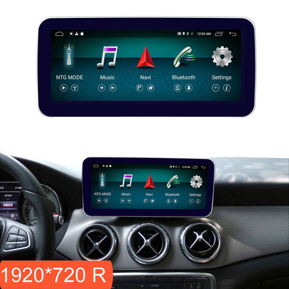 10.25 inch 4+64G Android Display for Mercedes Benz A Class W176 Car Radio Screen GPS Navigation Bluetooth Head UP Touch Screen