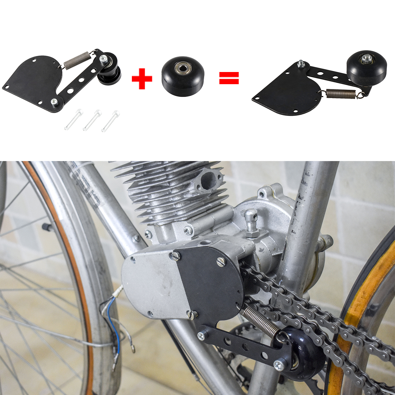 Chain Tensioner Fit 49cc 66cc 80cc Engine Motorized Motorised Bicycle Bike Part