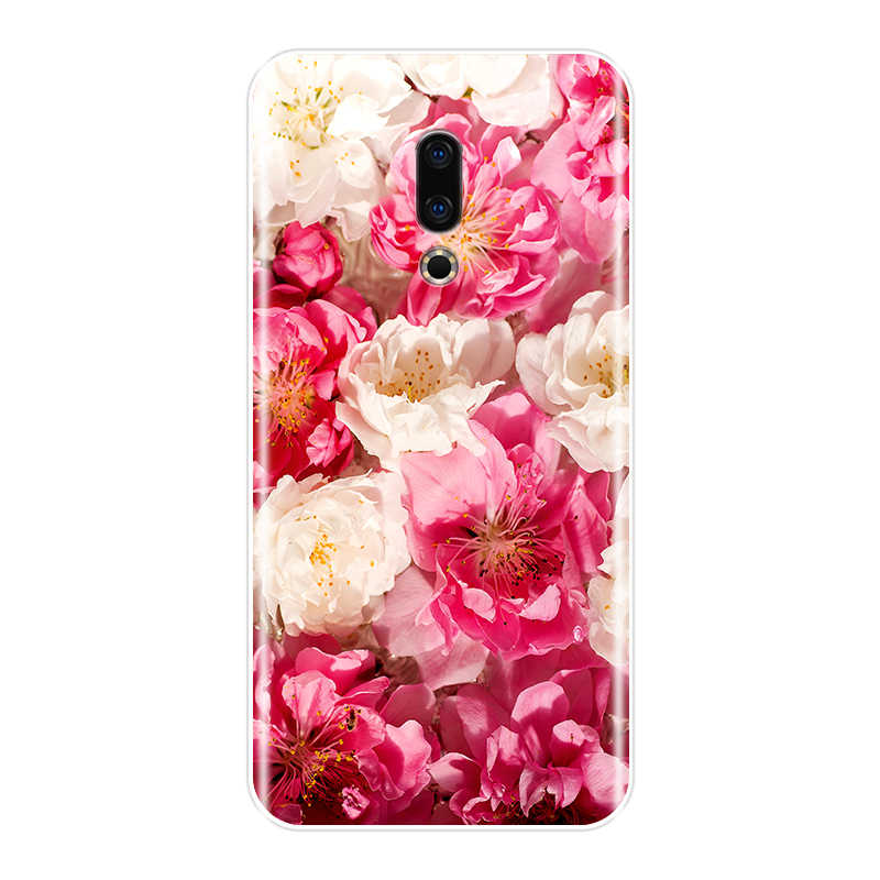 Funda trasera para Meizu 16th 16x15 Lite 16 Plus silicona suave hermosas flores funda de teléfono para Meizu U10 u20 Pro 6 7 Plus