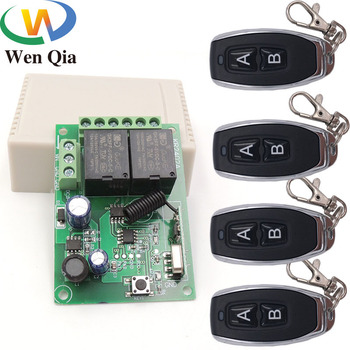 цена на 433MHz Universal Wireless Remote Control DC5V 12V 24V 2CH rf Relay and Transmitter Remote Garage/Gate/Motor/Light/Home appliance