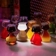 Многослойное коктейльное стекло Agave Beer глубокая Водяная бомба пуля чашечка вечерние Клубные кружки небольшой емкости Термостойкое стекло