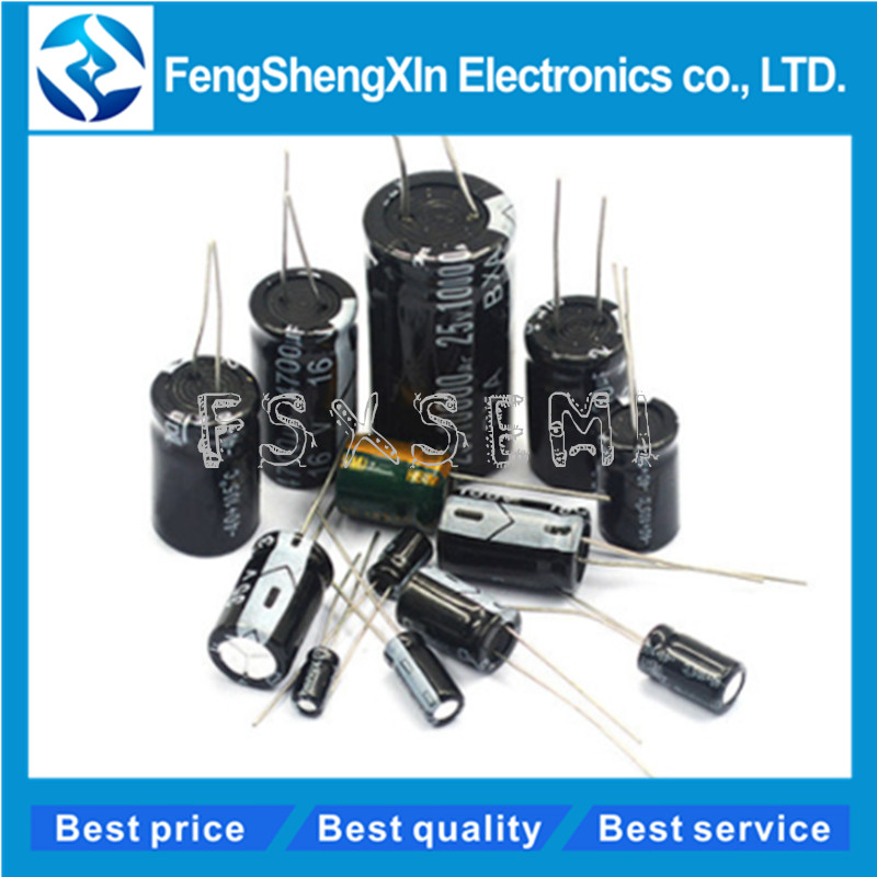 5pcs/lot 13*25mm Aluminum Electrolytic Capacitor 13x25 Foot spacing:5mm 25V <font><b>3300UF</b></font> 16V 4700UF <font><b>50V</b></font> 1000UF image