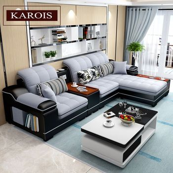 L Shaped Living Room Sofa Chaise  1