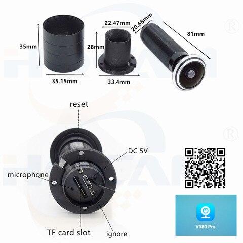 angular fisheye lente rede mini olho magico wifi camera ip p2p v380