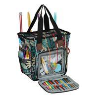 Bolsa de almacenamiento para lanas, bolsa de mano de punto portátil, impermeable, con hoja de arce para bolas de hilo, ganchos de ganchillo, accesorios de costura, nueva
