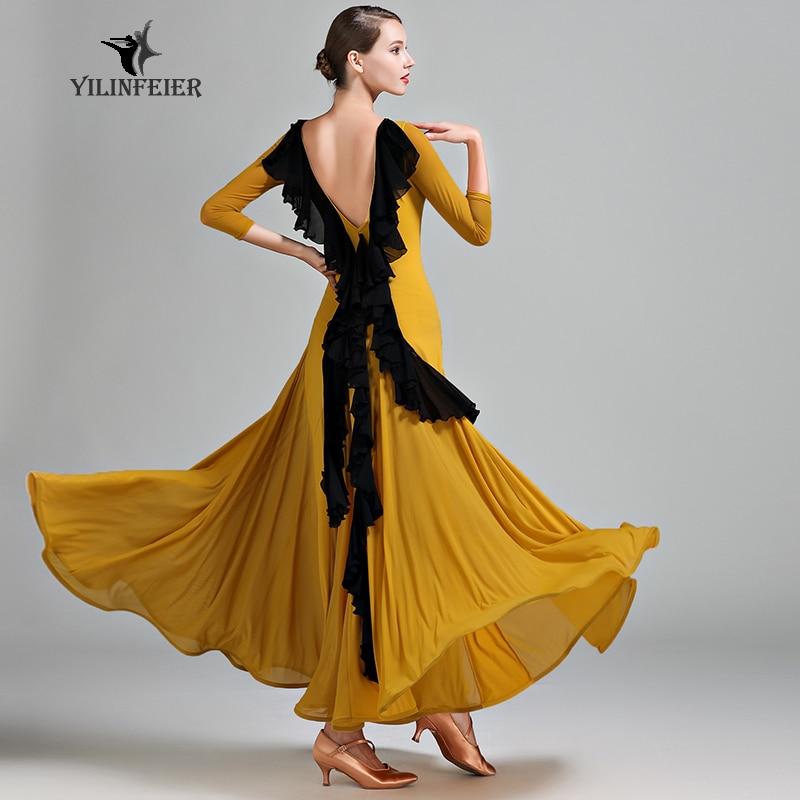 New Ballroom Dance Competition Dress Dance Ballroom Waltz Dresses Standard Dance Dress Women Ballroom Dress  S9044