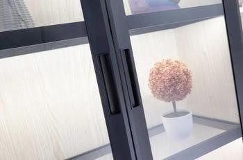 Italia Stile Di Vetro Di Alluminio Telai Di Porte Per Armadio Da Cucina Porta