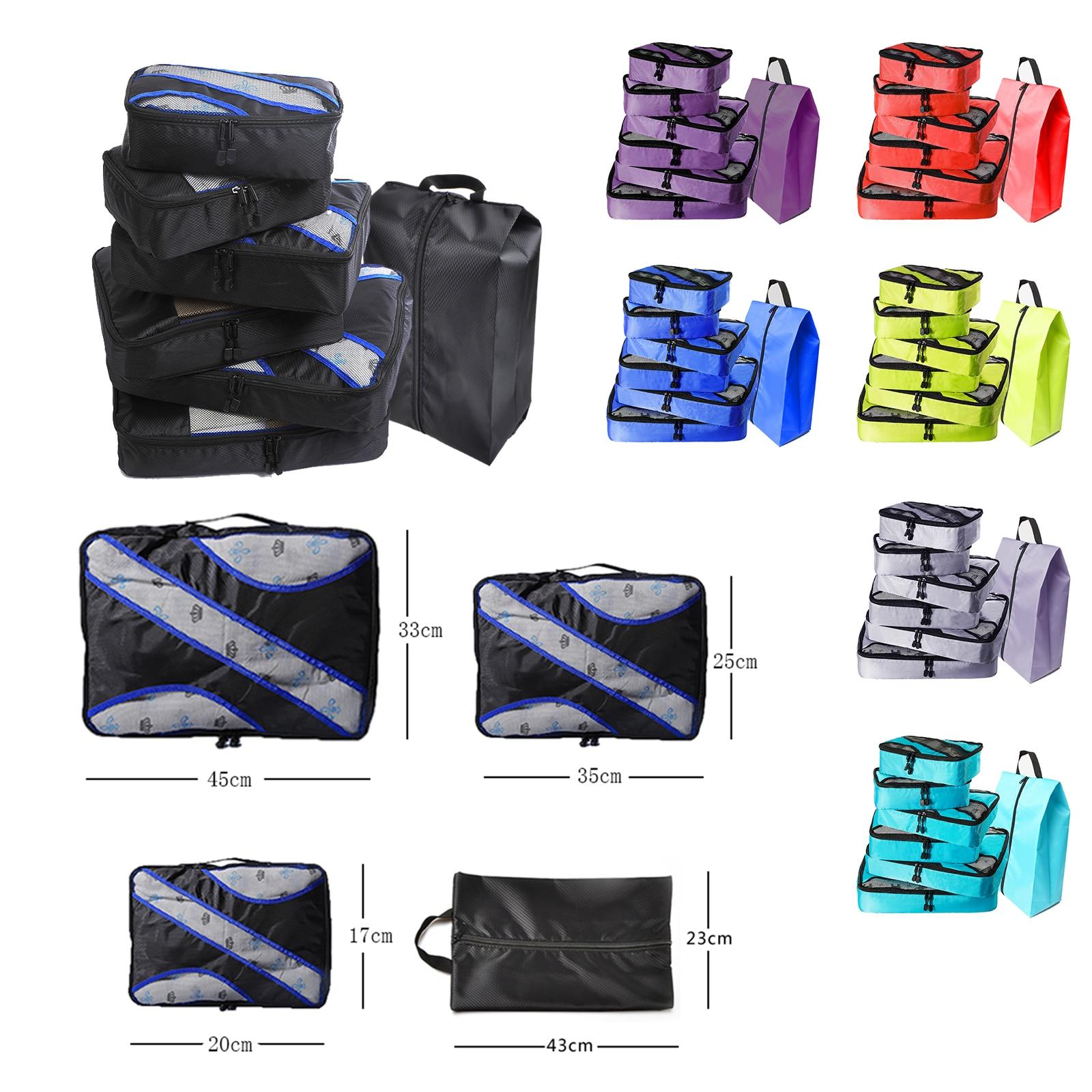 Luggage Packing Cube Nylon/Women/Big/Ladies/Large/Waterproof/Travel Bags Organizer Sets Packing Cube Organizer Duffle Bag