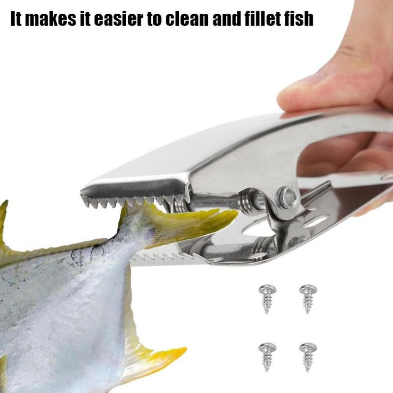 Stainless Steel Fillet Clamp Fish Clip For Cleaning Board Fishing Tool Extractor Tweezers Fish Bone Plucking Tweezers Fixed Cove|Fishing Tools| - AliExpress