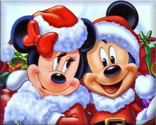 Broderie Diamant Noël Mickey