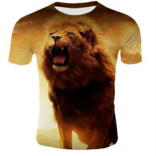 Newest 3D Print Lightning Lion Cool T-shirt Men/Women Short Sleeve Summer Tops Tees T Shirt Fashion Clothing Plus Size 2019(China)