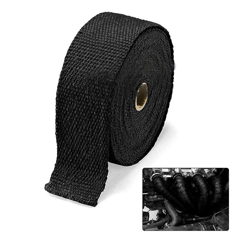 Car Thickened Heat Insulation Glass Fiber Auto Exhaust Pipe Wrap Cover Engine Temperature Cotton Isolat Wraped Tape Accessories