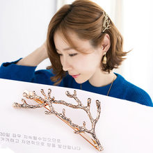 Japanese Korean New Style Hair Accessories Cute Sweet Antlers Side Clip Headdress Taobao Hot Selling Branch Bobby Pin Headband(China)