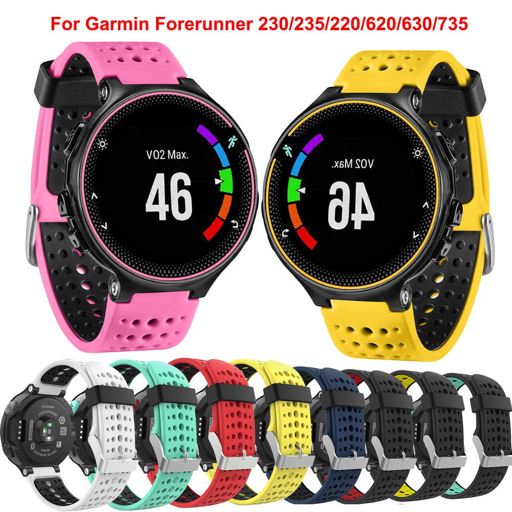 Silicone Replacement Watchfor Garmin Forerunner 230 /235 /220 /620 /630 /735 Watch Outdoor Sport Smart  Watchstrap Accessories