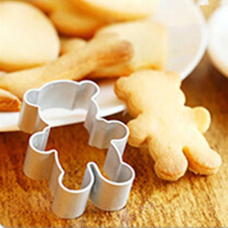 الكرتون البسكويت الفاكهة قطع يموت أدوات الخبز كوكي كوكي فندان كعكة الدب شكل القواطع الخبز قالب خبز قوالب T3L0