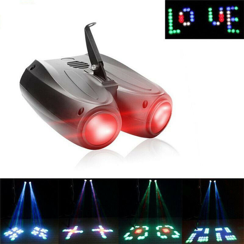 Colorful RGBW Pattern Stage Light 20W 128LED Double Head Airship Projector Lamp For DJ Disco Party Effect Wedding Events Club