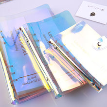 A5 A6 A7 transparent PVC Laser Notebook Cover Loose Diary Coil Ring Binder Filler Paper Seperate Planner Stationery Diary Cover(China)