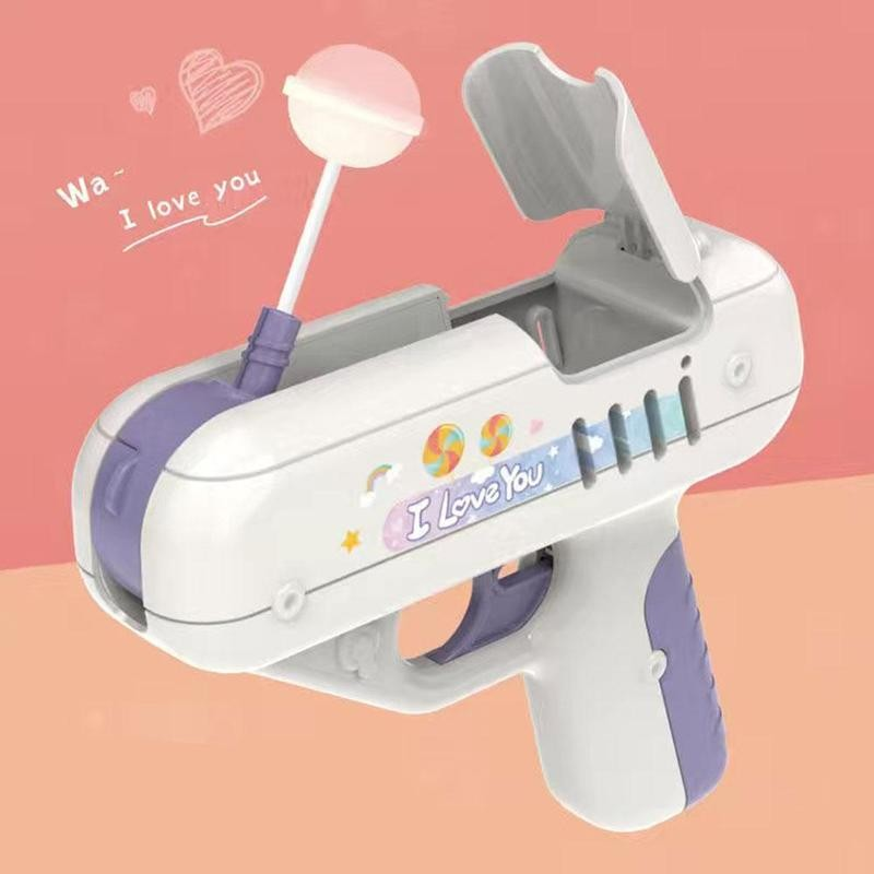 Candy Gun Sugar Lollipop Gun Sweet Toys For Girlfriends I Love You Without Candy Surprise Creative Ideas Gifts Light Storage Toy