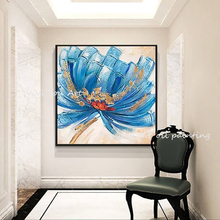 Handmade Texture Knife Flower Tree oil painting Abstract Modern Wall Art Oil Painting Canvas Home Decor For home Decoration