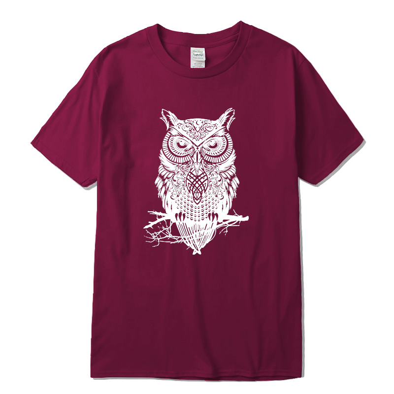 Men's Tshirt New Fashion Summer Short Sleeve Top Quality Cotton Casual Short Sleeve  O-neck Loose OWL Printed For Men Tops Tees