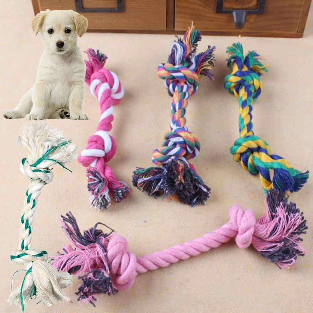 ペット犬子犬ダブルノット綿ロープモル骨形状トレーニングが Bite おもちゃ