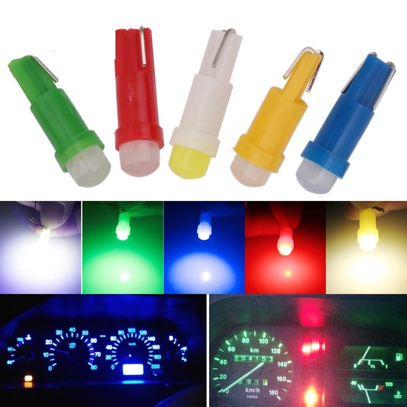1pcs T5 COB Car Dashboard Light Instrument Automobile Door Wedge Gauge Reading Lamp Bulb Car Styling White Blue 12V Car Styling