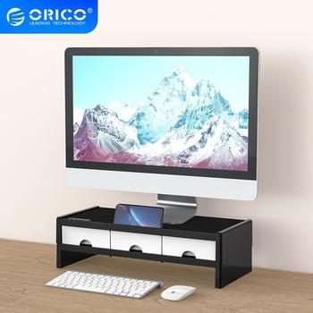 ORICO Desktop Monitor Stand Riser Holder Bracket Multi-function with 3 Drawers Storage Box Organizer for Notebook Home Office PC 1