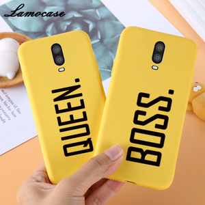 Yellow TPU Case For Oneplus 7T Silicone Cute sFor Samsung Back Cover Oneplus 5 6 7 5T 6T Pro Protector Black Bumper Soft(China)