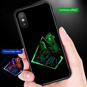 Image 4 - Ciciber מארוול זוהר זכוכית מקרה עבור iPhone 11 מקרה 7 8 6 6S בתוספת מעטפת כיסוי עבור iPhone 11 פרו Max XR X XS מקס Coque איש ברזל