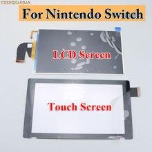 1x Original repuesto nuevo pantalla LCD Pantalla de Cristal w/ Flex Cable + 1x Original nuevo lente pantalla táctil para Nintendo Switch NS
