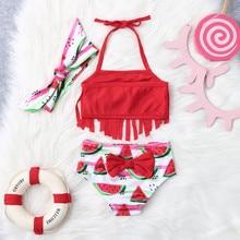 Outfits Swimsuit Bikini Watermelon Kids Children Baby-Boy Beach Print Tassel
