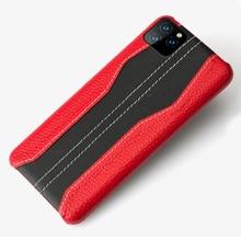 Luxe colorimétrique point En Cuir Véritable FHX JS étui de téléphone pour iPhone 7 8 Plus X XR XS MAX 11 Pro MAX protection couverture arrière