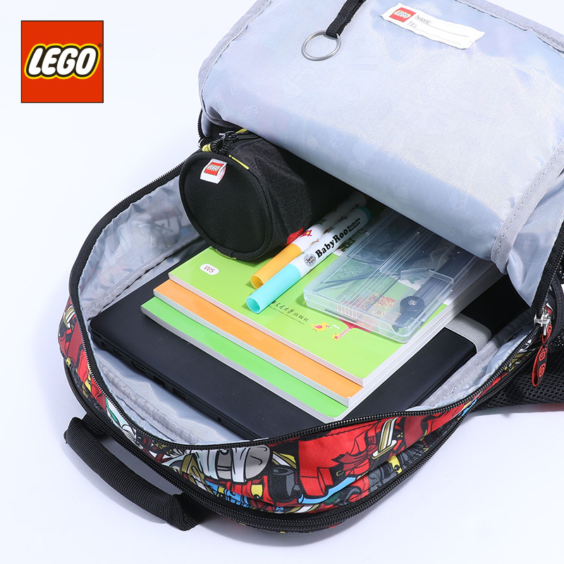 Lego LEGO 2019 New Style GIRL'S And BOY'S Backpack Young STUDENT'S Fashion Cartoon Bag 16 Grade 20022