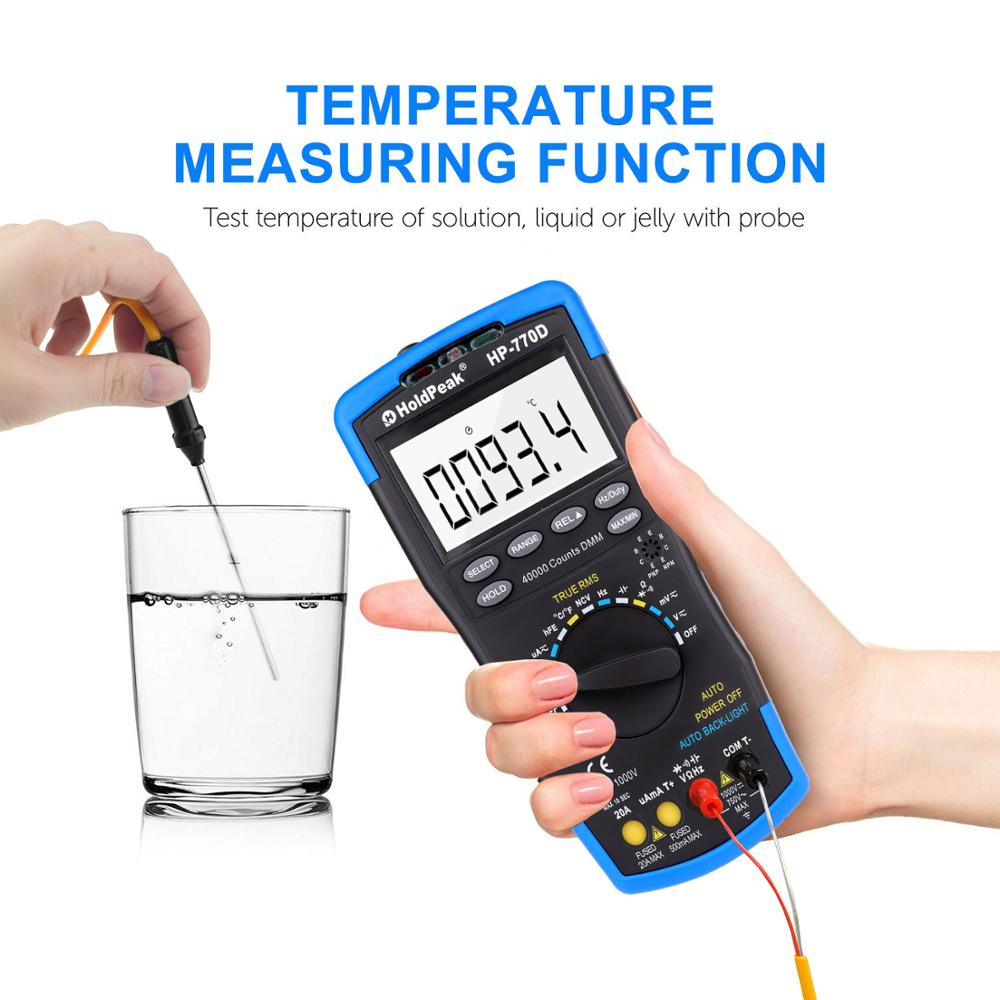 Amp 40000 Tester Digital Measure Multimeter Auto Volt Capacitor True Range Accuracy Multimetro High Multimeter RMS Ohm Counts