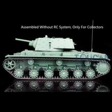1/16 Henglong Plastic Soviet KV-1 Model Static Tank 3878 Without RC System Battery TH08756-SMT2