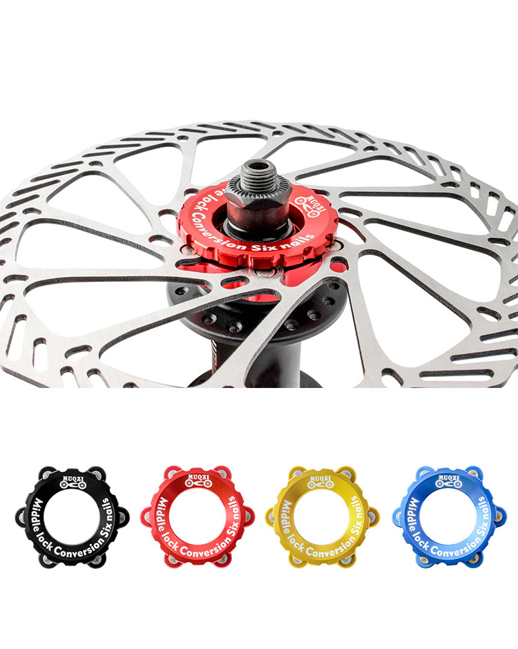 made of aluminum Bicycle 6-hole center lock adapter for brake disc disc brake