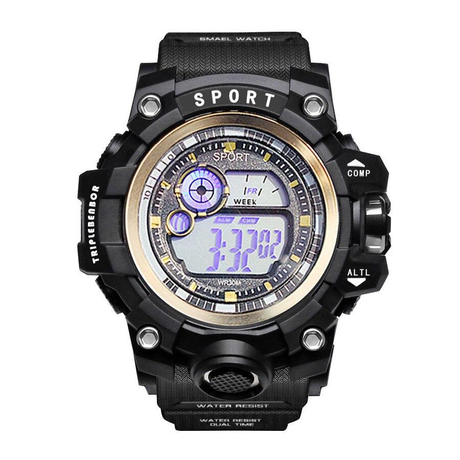 2020 New Men Sports Watches Dual Display Analog Digital LED Electronic Quartz Wristwatches Waterproof Swimming Military Watch