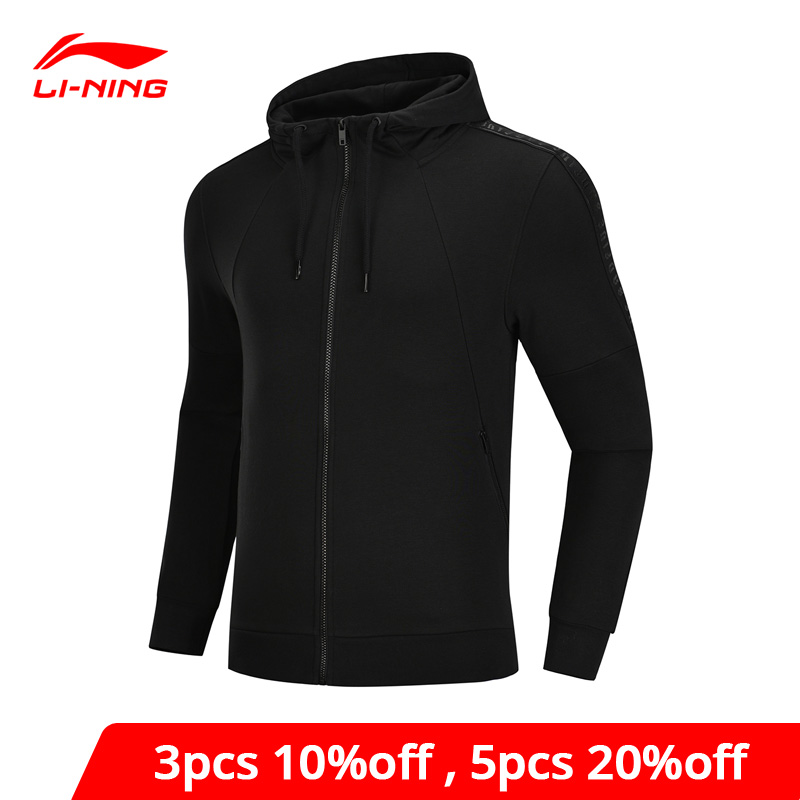 Li-Ning Men BAD FIVE Basketball Hoodie 84% Cotton 16% Polyester Hooded Coat Regular Fit Li Ning LiNing Sports AWDN331 MWW1425