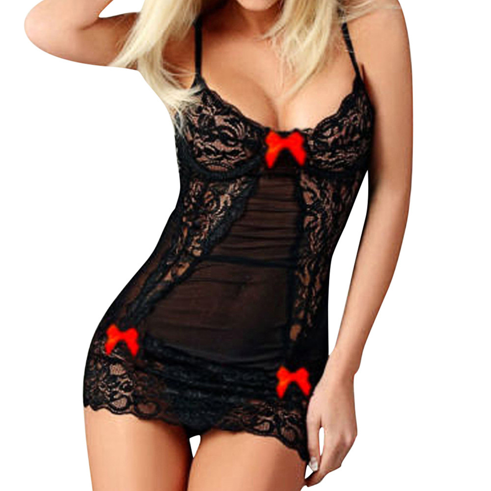 Women Erotic Costumes Fashion Sexy Bow Lace Racy Underwear Spice Suit Temptation Underwear Lenceria Porno Adult Sex Games-15