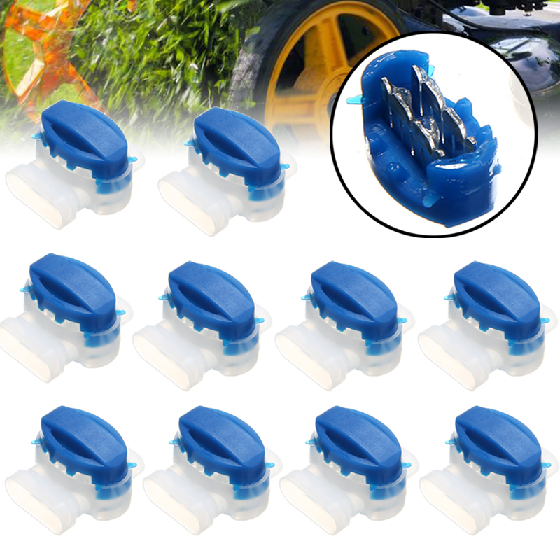 10pcs Electrical Mower Wire Connectors For Outdoor Garden Automatic Lawn Mower Accessories Tool Parts Wire Connectors