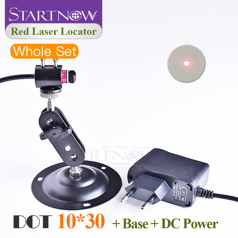 Set 10*30 With Holder & DC Adapter Dot Locator Laser Module Beam Red Laser Positioner For Laser Marking Cutting Dot Alignment