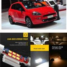 LED Interior Car Lights For Fiat punto 176 188 199 hatchback 178 cabrio punto evo 199 hatchback Dome map lamp bulb error free