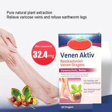 Rein natürlichen pflanzlichen rosskastanie extrakte Venen Aktiv lindert krampfadern in beine, Rosskastanie 60caps/box