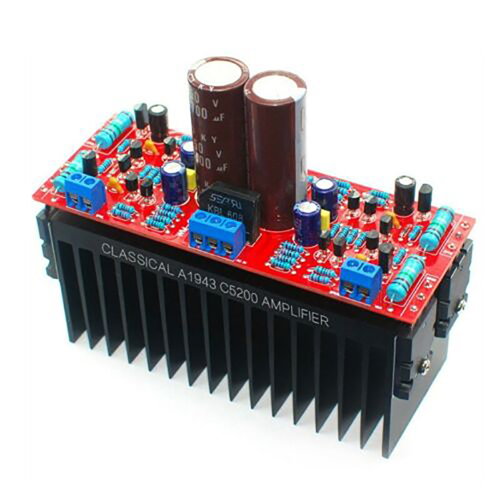 Audio Stereo Dual AC12-28V DIY Professional Double Channel A1943 C5200 Durable Amplifier Board Computer Transistors High Power