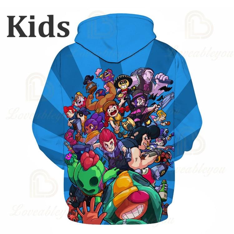Games Kids Hoodies Leon Shooting Game 3D Print Hoodie Sweatshirt Boys Girls Harajuku Cartoon Star Jacket Tops Teen Clothes  - buy with discount