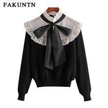 Женский вязаный свитер fakuntn пуловер осенне зимняя одежда