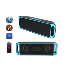 Wireless Bluetooth Speaker Portable Stereo Subwoofer Built-in Mic Dual Speakers Bass Sound Speakers Support TF USB FM Radio цена