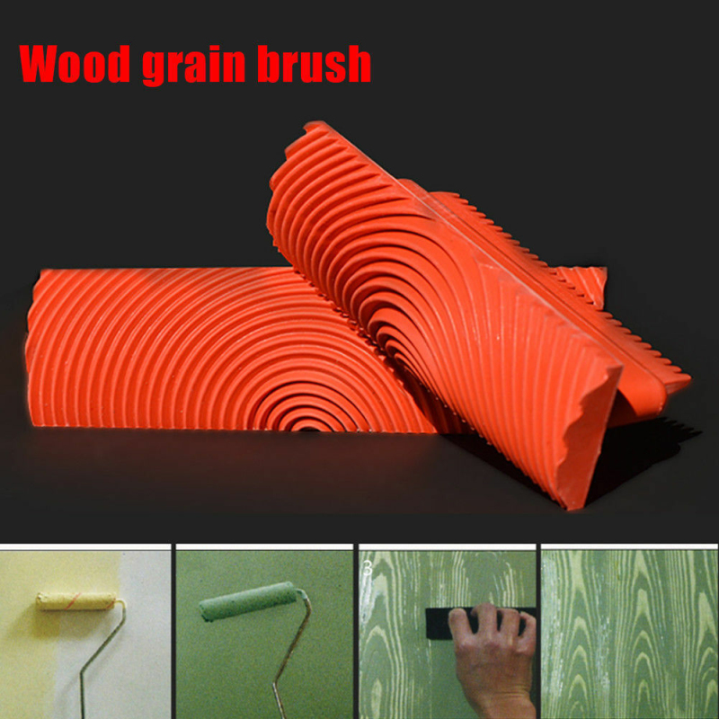 Efficient Wood Graining Diy Tool Set 2pcs Wood Graining Grain Rubber Patin Painting Effects Painting Tool