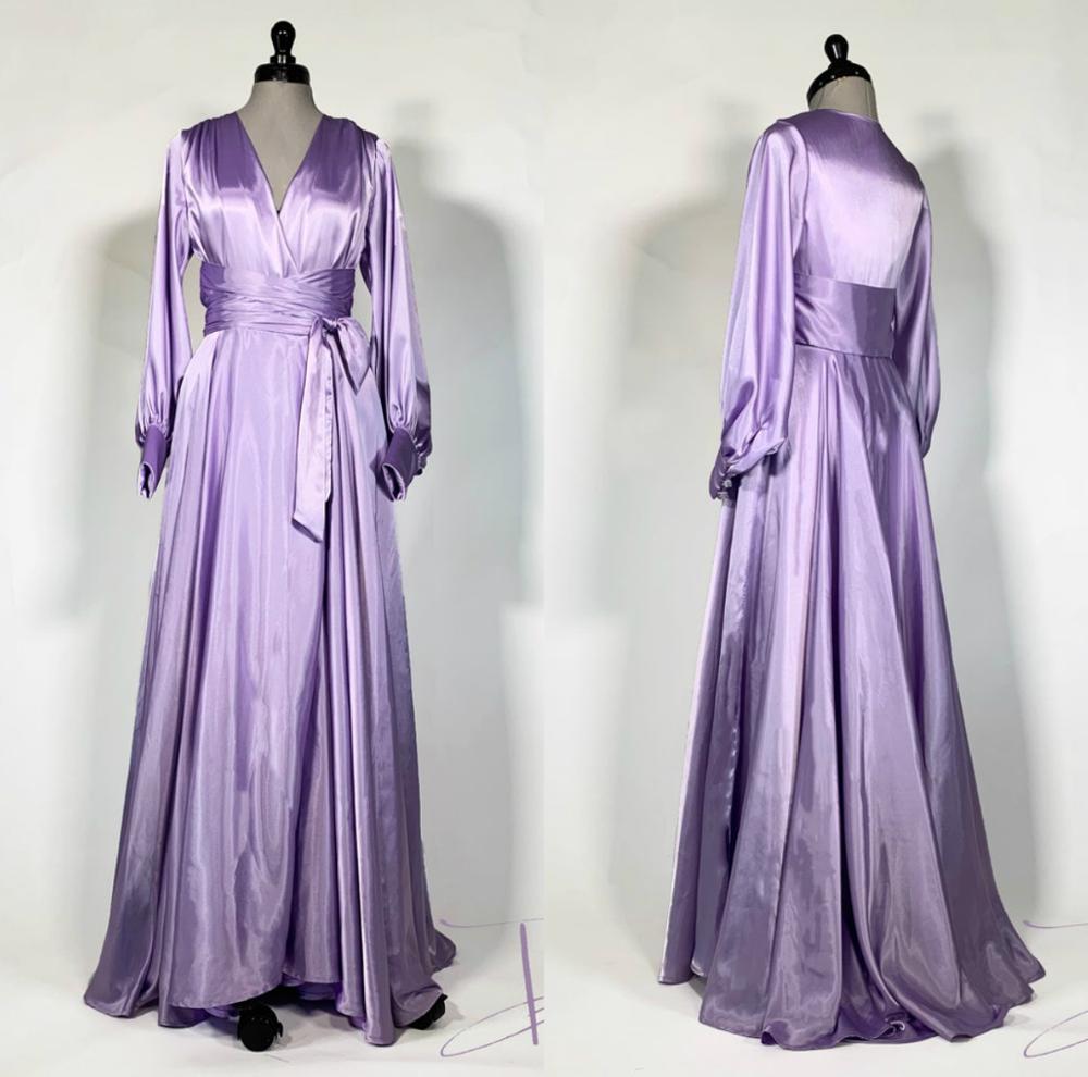 Purple Women's Robe & Gown Sets Lace Bathrobe Night Dress Sleepwear Womens Sleep Gowns Silk Satin Robe Femme Lingerie