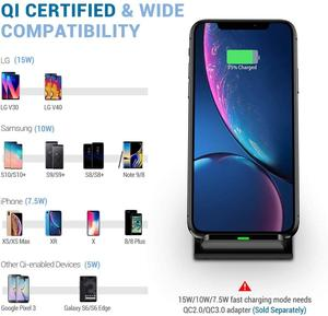 Image 3 - Fdgao carregador sem fio qi para iphone, carregador rápido 15w para iphone 11, pro, xs max, xr, x, 8, 10w suporte de carregamento para samsung s10 s20 note 9 10